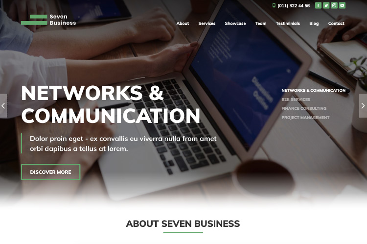 elementor-business-one-page